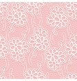 Seamless floral white lace pattern Repeating vector image vector image