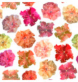 seamless hibiscus background vector image vector image