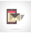 Sending message flat color icon vector image vector image