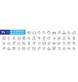 set 50 e-commerce and shopping web icons vector image vector image