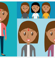 set avatars women of different diversity vector image vector image