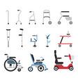 set of icons that represent orthopedic equipment vector image