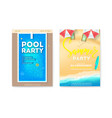 set posters for summer parties invitation vector image vector image