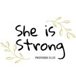 she is strong vector image vector image