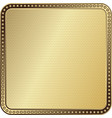 shiny gold gradient metal frame with dotted vector image