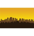 Silhouette of city parraler vector image