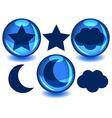 Sky spheres vector image