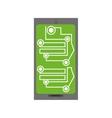 smartphone circuit electronic board vector image vector image