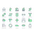sport at home simple line icons vector image