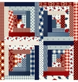 Square patchwork in country style vector image vector image