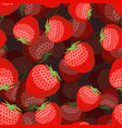 strawberry pattern 3d red berry texture sweet vector image
