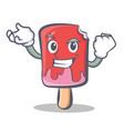 successful ice cream character cartoon vector image vector image