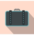 Suitcase for travalling flat icon vector image vector image