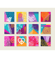 summer set colorful cards with happy designs vector image