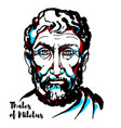 thales of miletus vector image vector image