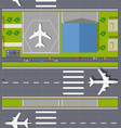 top view seamless airport vector image vector image