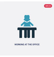 two color working at office icon from people vector image vector image