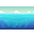Underwater seamless landscape vector image vector image