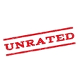 Unrated Watermark Stamp vector image vector image