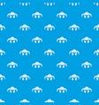 viking helmet classic pattern seamless blue vector image vector image