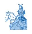 warrior samurai japanese character riding horse vector image vector image
