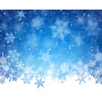 Winter card vector image vector image
