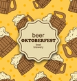 Greeting Card for Oktoberfest Party vector image