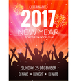 2017 nyew year party dance people background event vector image vector image