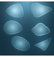 abstract transparent shapes vector image