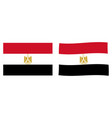 arab republic of egypt flag simple and slightly vector image