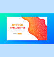 artificial intelligence landing page vector image