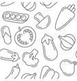 assorted vegetables seamless pattern vector image vector image
