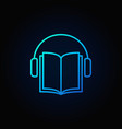 audiobook blue icon vector image vector image