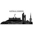 australia canberra architecture city vector image vector image