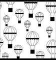 balloon air hot flying pattern vector image