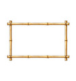 bamboo frame template vector image vector image