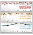 Banners with confetti set vector image vector image