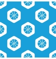 Basketball hexagon pattern vector image vector image