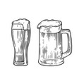 beer glass mag vector image vector image