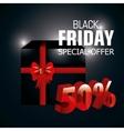 Black friday shopping vector image