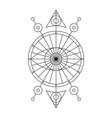 Black spiritual mystical line symbol