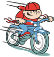 Boy on bike vector image