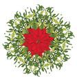 branch of mistletoe vector image