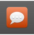 bubble speech icon Eps10 vector image