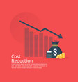 business finance crisis concept stack pile coins vector image