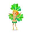 carnival dancer character in flat design vector image