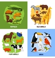 Cartoon 2x2 Zoo Images vector image vector image