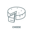 cheese line icon cheese outline sign vector image