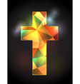 Christian Cross with Stained Glass vector image