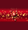christmas bauble banner with bokeh lights vector image vector image